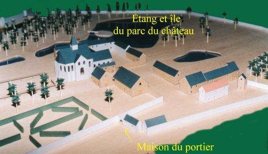 Maquette réalisée par un étudiant en architecture sur les indications de Ph. MASSIN (Cercle d'Histoire)