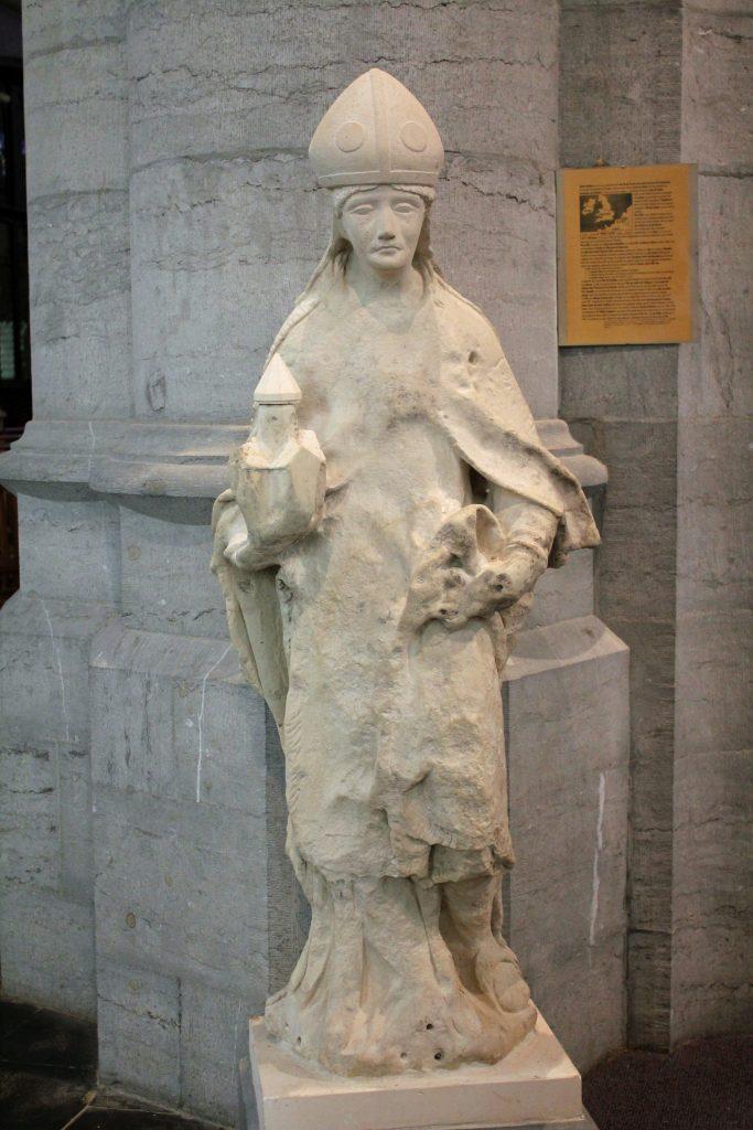 Une autre représentation de Saint-Feuillien à l'Eglise du Roeulx.