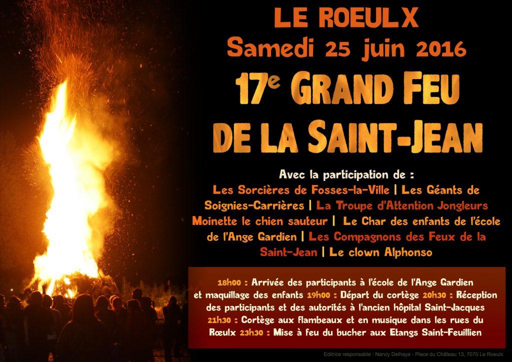 Affiche Feu de la St-Jean 2016